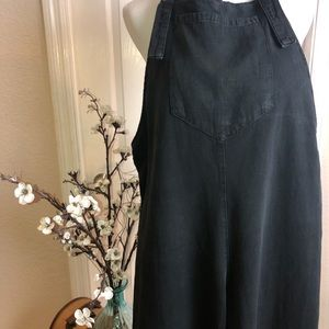 Overalls cropped length faded black